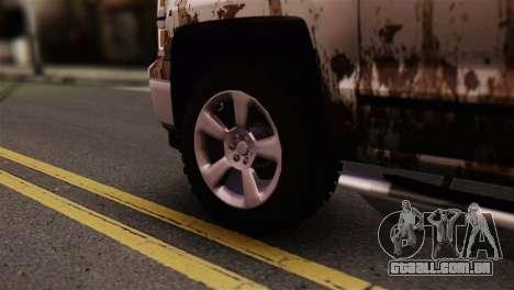 Chevrolet Silverado Enlodada para GTA San Andreas traseira esquerda vista