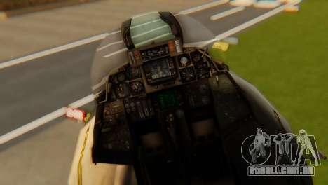 F-14A Tomcat VF-202 Superheats para GTA San Andreas vista traseira
