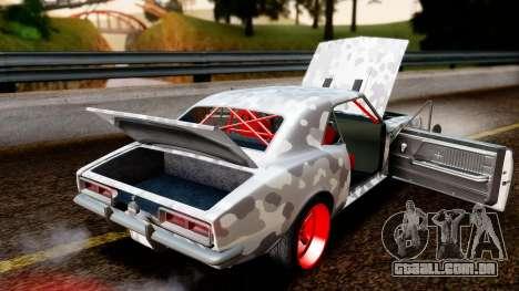 Chevrolet Camaro SS Camo Drift para GTA San Andreas vista interior