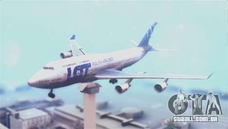LOT Polish Airlines Boeing 747-400 para GTA San Andreas