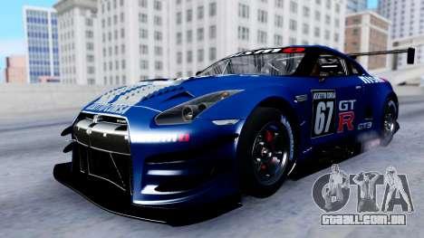 Nissan GT-R (R35) GT3 2012 PJ2 para GTA San Andreas vista superior