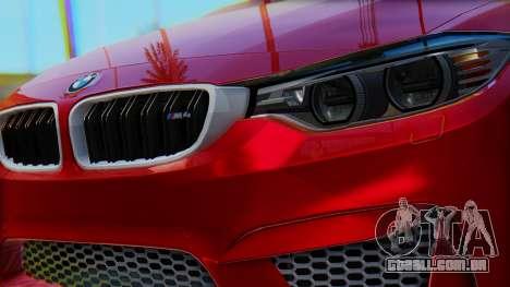 BMW M4 2015 HQLM para GTA San Andreas vista direita