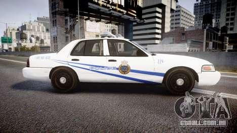 Ford Crown Victoria CNPS [ELS] para GTA 4 esquerda vista