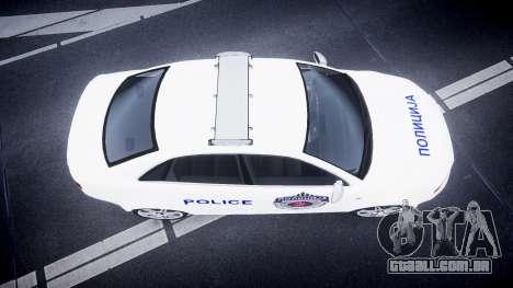 Audi RS4 Serbian Police [ELS] para GTA 4 vista direita
