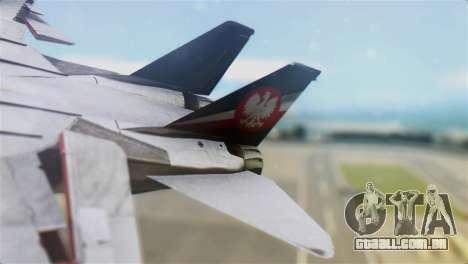 F-14D Super Tomcat Polish Navy para GTA San Andreas traseira esquerda vista