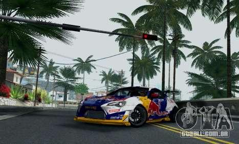 Toyota GT86 Red Bull para GTA San Andreas vista direita