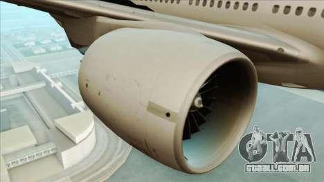 B777-200ER Air New Zealand Black Tail Livery para GTA San Andreas vista direita