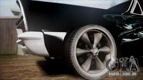 Pontiac GTO Black Rock Shooter para GTA San Andreas traseira esquerda vista