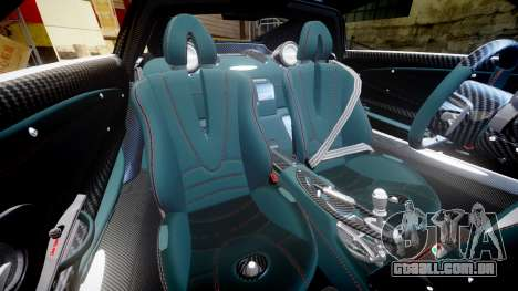 Pagani Hauyra para GTA 4 vista interior