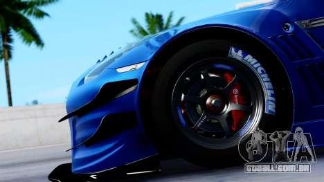 Nissan GT-R (R35) GT3 2012 PJ2 para GTA San Andreas vista traseira