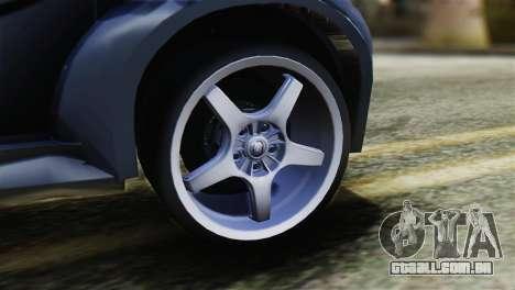 Toyota Aygo Sporting para GTA San Andreas traseira esquerda vista