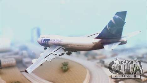 LOT Polish Airlines Boeing 747-400 para GTA San Andreas esquerda vista