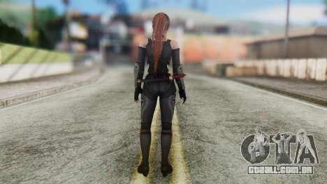 Dead Or Alive 5 Kasumi Ninja Black Costume para GTA San Andreas terceira tela