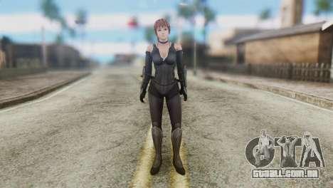 Dead Or Alive 5 Kasumi Ninja Black Costume para GTA San Andreas segunda tela