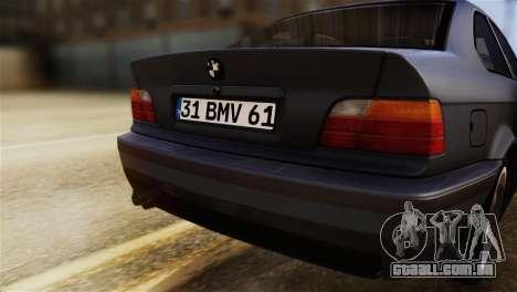 BMW 320i para GTA San Andreas vista traseira
