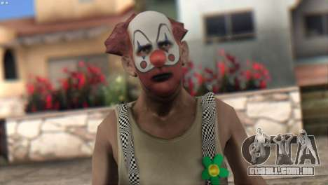 Clown Skin from Left 4 Dead 2 para GTA San Andreas terceira tela