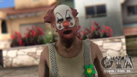 Clown Skin from Left 4 Dead 2 para GTA San Andreas terceira tela