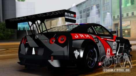 Nissan GT-R (R35) GT3 2012 PJ3 para GTA San Andreas vista interior