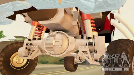 Gigahorse from Mad Max Fury Road para GTA San Andreas traseira esquerda vista