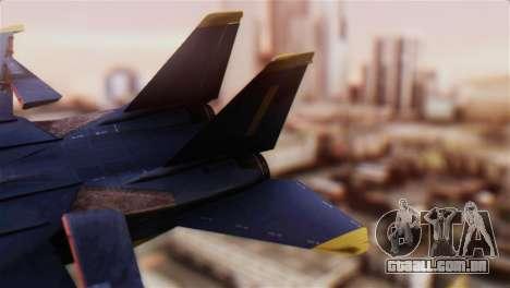 F-14A Tomcat Blue Angels para GTA San Andreas traseira esquerda vista