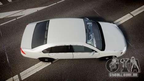 Chevrolet Impala Unmarked Police [ELS] tw para GTA 4 vista direita