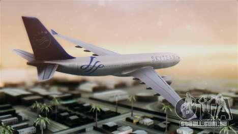 Airbus A330-200 Garuda Indonesia Sky Team para GTA San Andreas esquerda vista