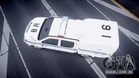Toyota Hilux NSWPF [ELS] para GTA 4 vista direita