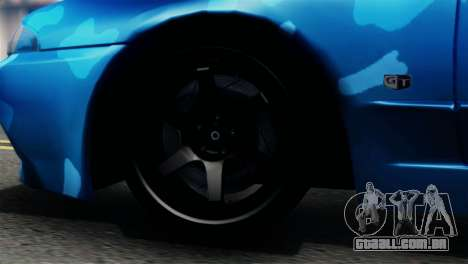 Nissan Skyline R32 Camo Drift para GTA San Andreas traseira esquerda vista