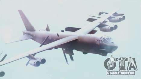 Boeing B-52H Stratofortress para GTA San Andreas vista traseira