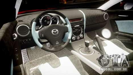 Mazda RX-8 2006 v3.2 Advan tires para GTA 4 vista interior
