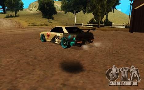 Nissan Skyline R32 RLD para GTA San Andreas traseira esquerda vista