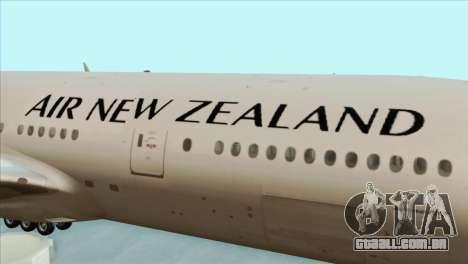 B777-200ER Air New Zealand Black Tail Livery para GTA San Andreas vista traseira