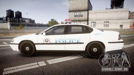 Chevrolet Impala Metropolitan Police [ELS] Pat para GTA 4 esquerda vista