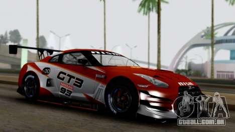 Nissan GT-R (R35) GT3 2012 PJ3 para GTA San Andreas