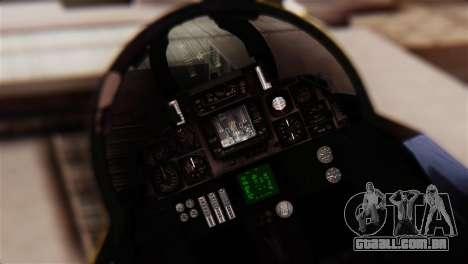 F-14A Tomcat Blue Angels para GTA San Andreas vista traseira