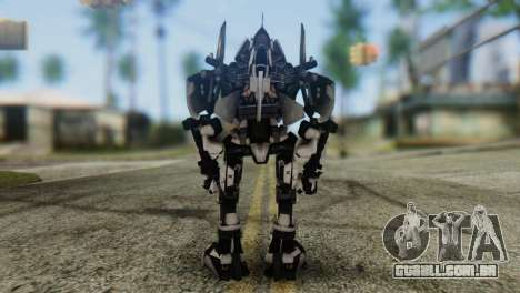 Soldier Jet Skin from Transformers para GTA San Andreas terceira tela