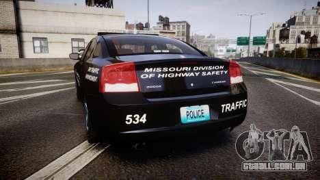 Dodge Charger Metropolitan Police [ELS] para GTA 4 traseira esquerda vista