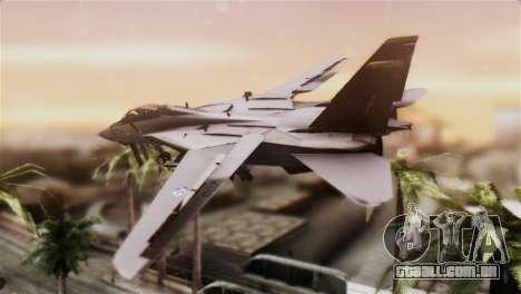 F-14A Tomcat IRIAF para GTA San Andreas esquerda vista