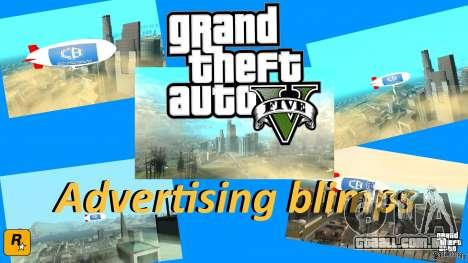 Publicidade dirigíveis para GTA San Andreas