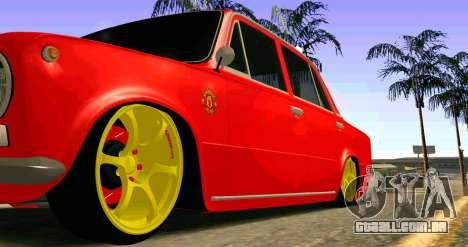 VAZ 2101 MU para GTA San Andreas vista traseira