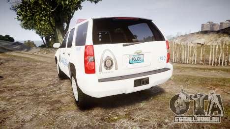 Chevrolet Tahoe Metropolitan Police [ELS] para GTA 4 traseira esquerda vista