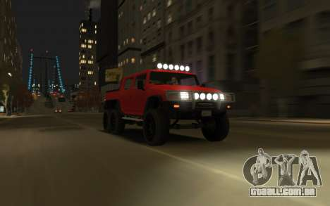 Mammoth Patriot 6x6 para GTA 4 traseira esquerda vista