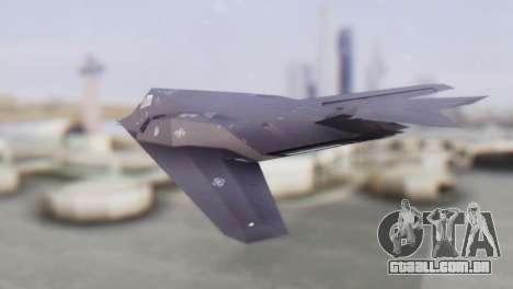 Lockheed F-117 Nighthawk ACAH para GTA San Andreas esquerda vista