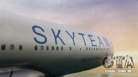 Airbus A330-200 Garuda Indonesia Sky Team para GTA San Andreas vista traseira