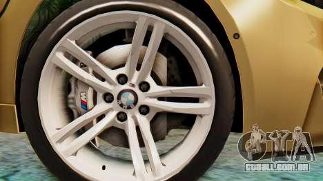 BMW M4 2015 IVF para GTA San Andreas traseira esquerda vista