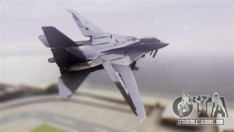 F-14A Tomcat VF-51 Screaming Eagles para GTA San Andreas esquerda vista