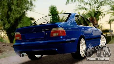 BMW 540i E39 para GTA San Andreas esquerda vista