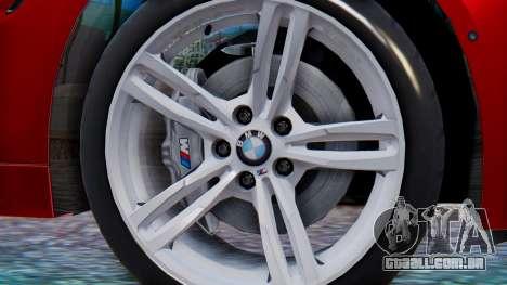 BMW M4 2015 HQLM para GTA San Andreas traseira esquerda vista