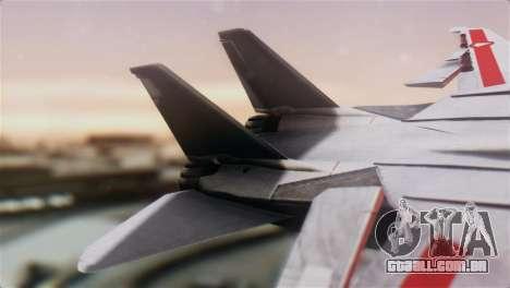 F-14D Tomcat Macross Red para GTA San Andreas traseira esquerda vista