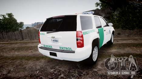 Chevrolet Tahoe Border Patrol [ELS] para GTA 4 traseira esquerda vista